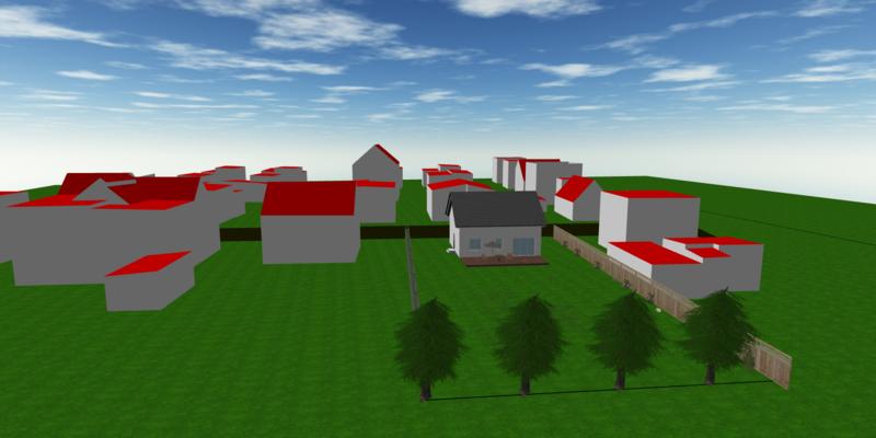 Dom jednorodzinny wyedytowany z modelu LOD2